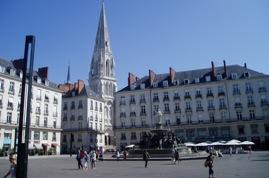 Nantes zentraler Platz